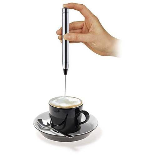 MILK FROTHER PEN STAINLESS STEEL BATTERY OPERATED COFFEE WHISK