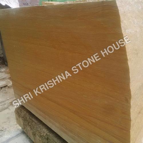 Jaisalmer Yellow, Teak Wood & Rainbow Stone