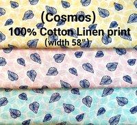 Cosmos 100% cotton linen print