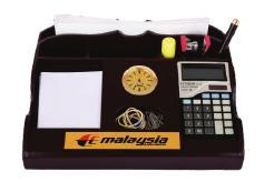 Pen Stand With Watch & Calculator