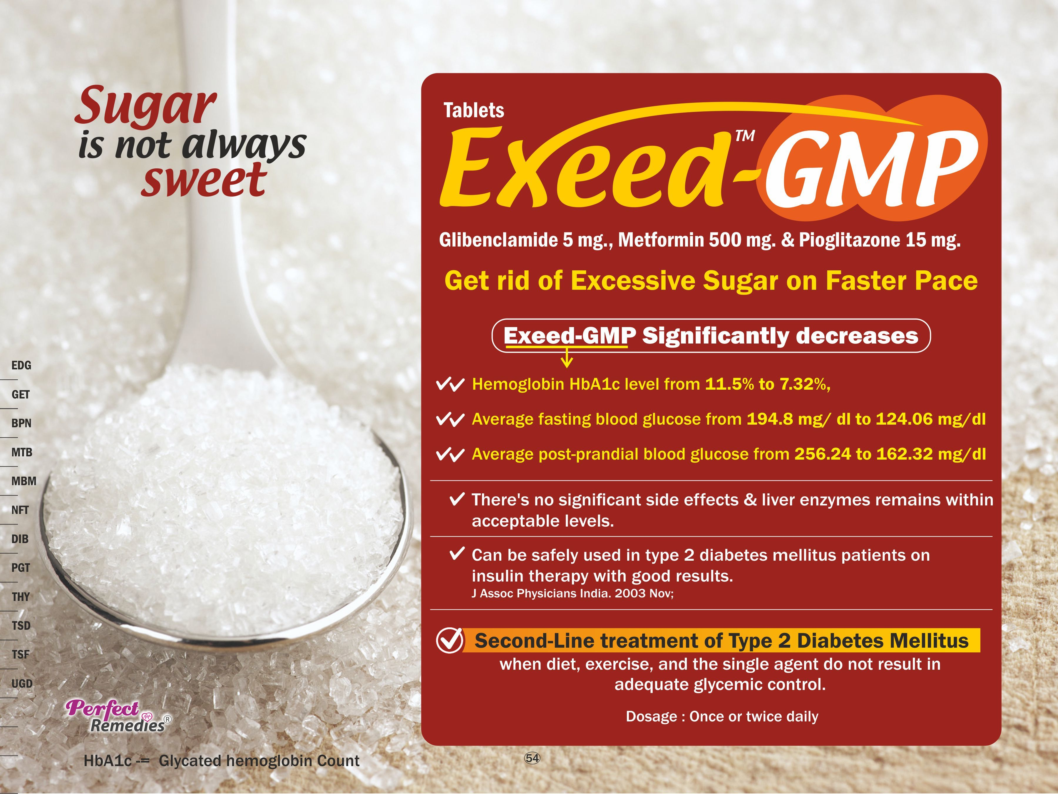 Metformin-500 mg, Glibenclamide 5 mg & Pioglitazone 15 mg