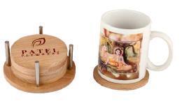 Decorative Coaster Set of 6 Plates