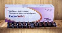 Metformin,Glimperide & Atorvastatin Combination