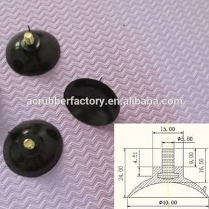 40 Mm M6 Suction Cup with Stud M6 Screw Vacuum Glass Sucker Plastic Sucker M6 PVC Sucker 40 Mm M6 Suction Cup