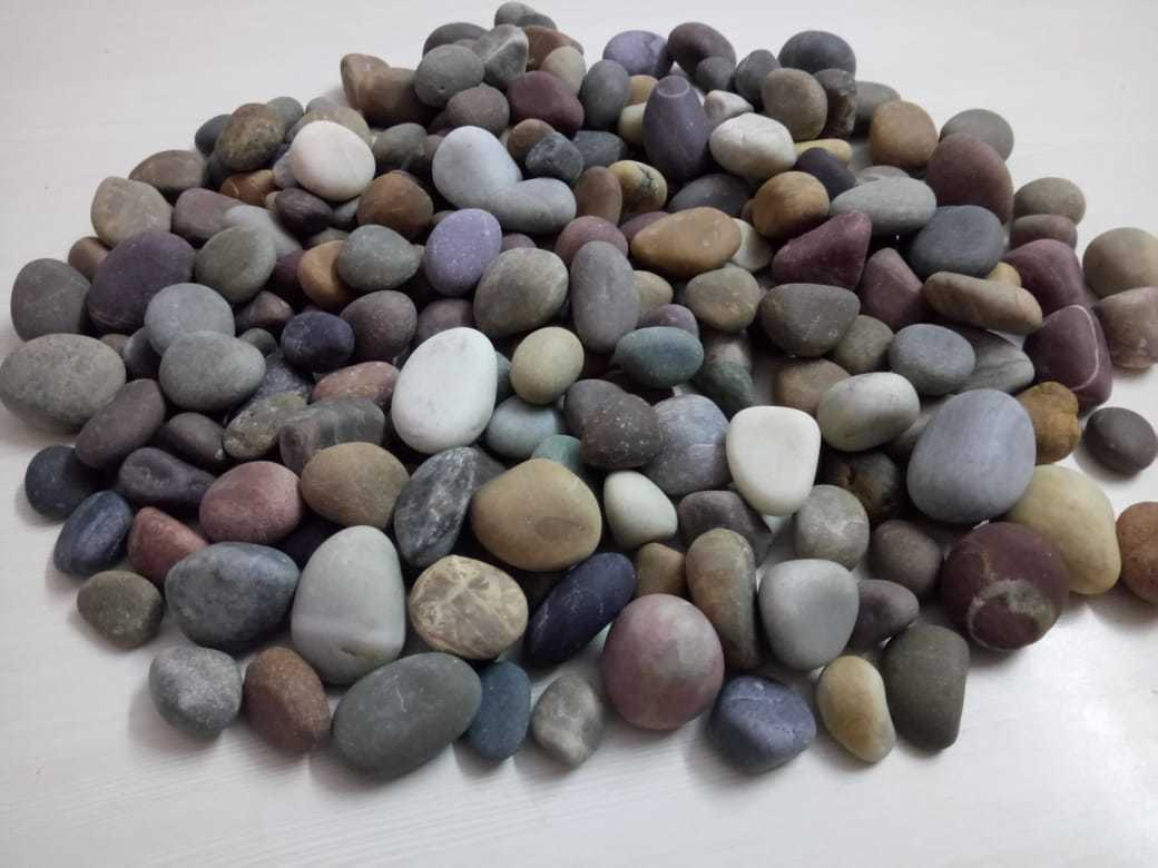 Factory Made Mix Color Polished Pebbles stone for decoration