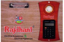 Clip Board With Watch & Calculator
