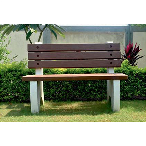 Wood Finish Concrete Bench