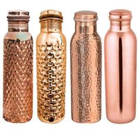 Designer Copper Water  Bottle Set