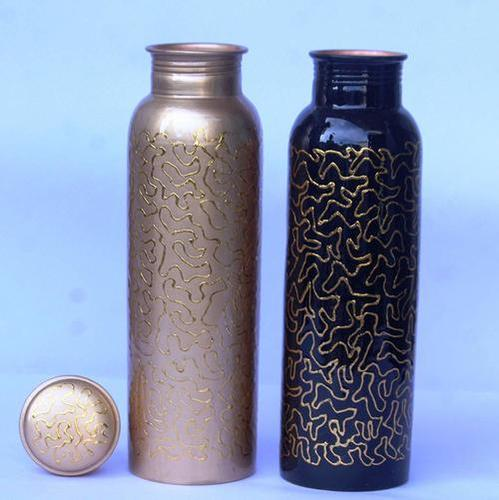 Meena Spiral finish Copper Bottle