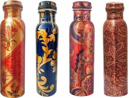 Modern Art Printed Copper Bottle