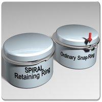 Light Duty Single Turn Internal Spiral Retaining Rings