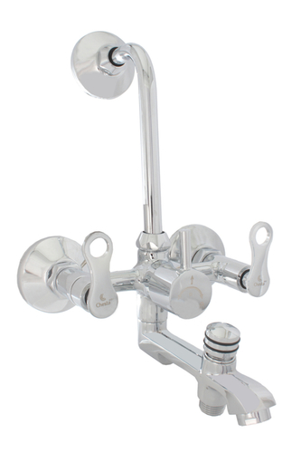Brass Wall Mixer 2 in 1 with L Band