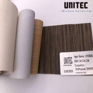 Polyester Sunscreen Screen Solar Roller Curtain Fabric