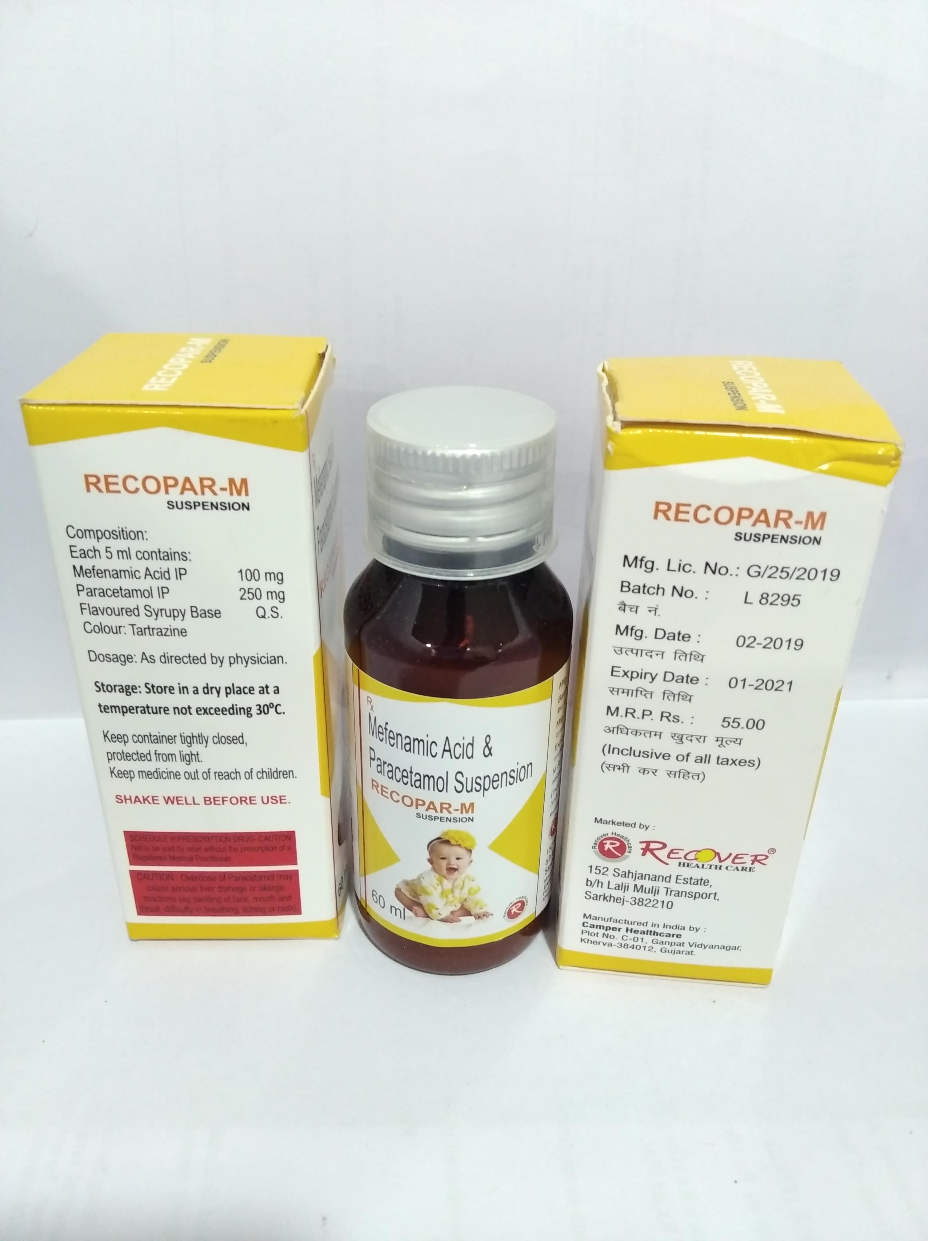 Recopar-M Paracetamol and Mefenamic Acid Syrup