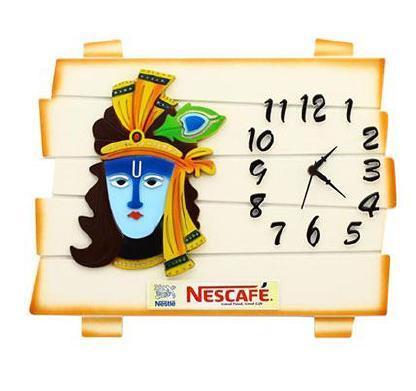 Nescafe Krishna With Clock