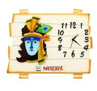 Nescafe Krishna With Clock