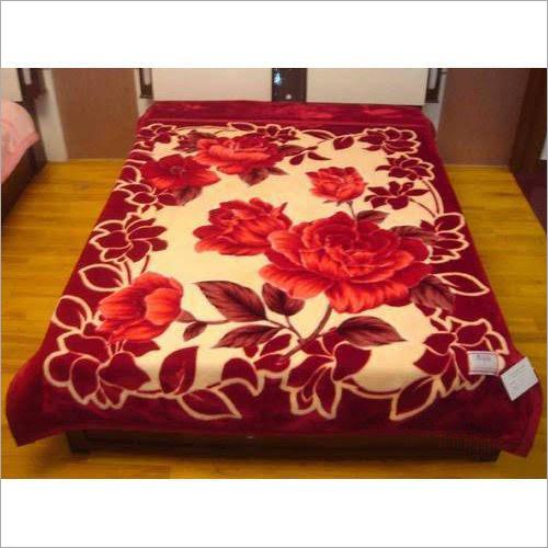 Flower Printed Mink Blanket