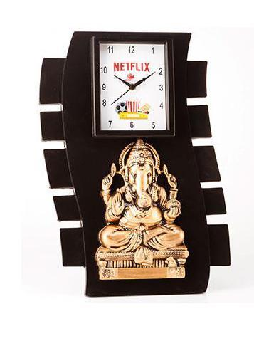 Wall Ganesha With Clock