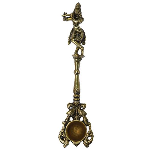 Brass Krishna Spoon