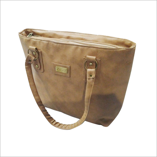 PU Plain Shoulder Bag