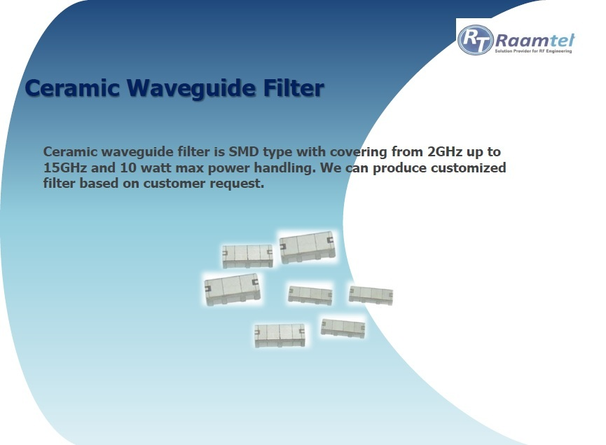RF Ceramic Waveguide Filter