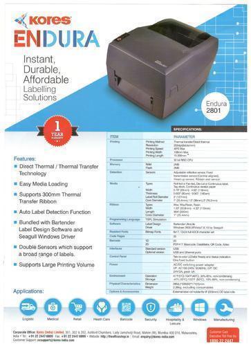 Kores Barcode Label Printer Enduro-2801