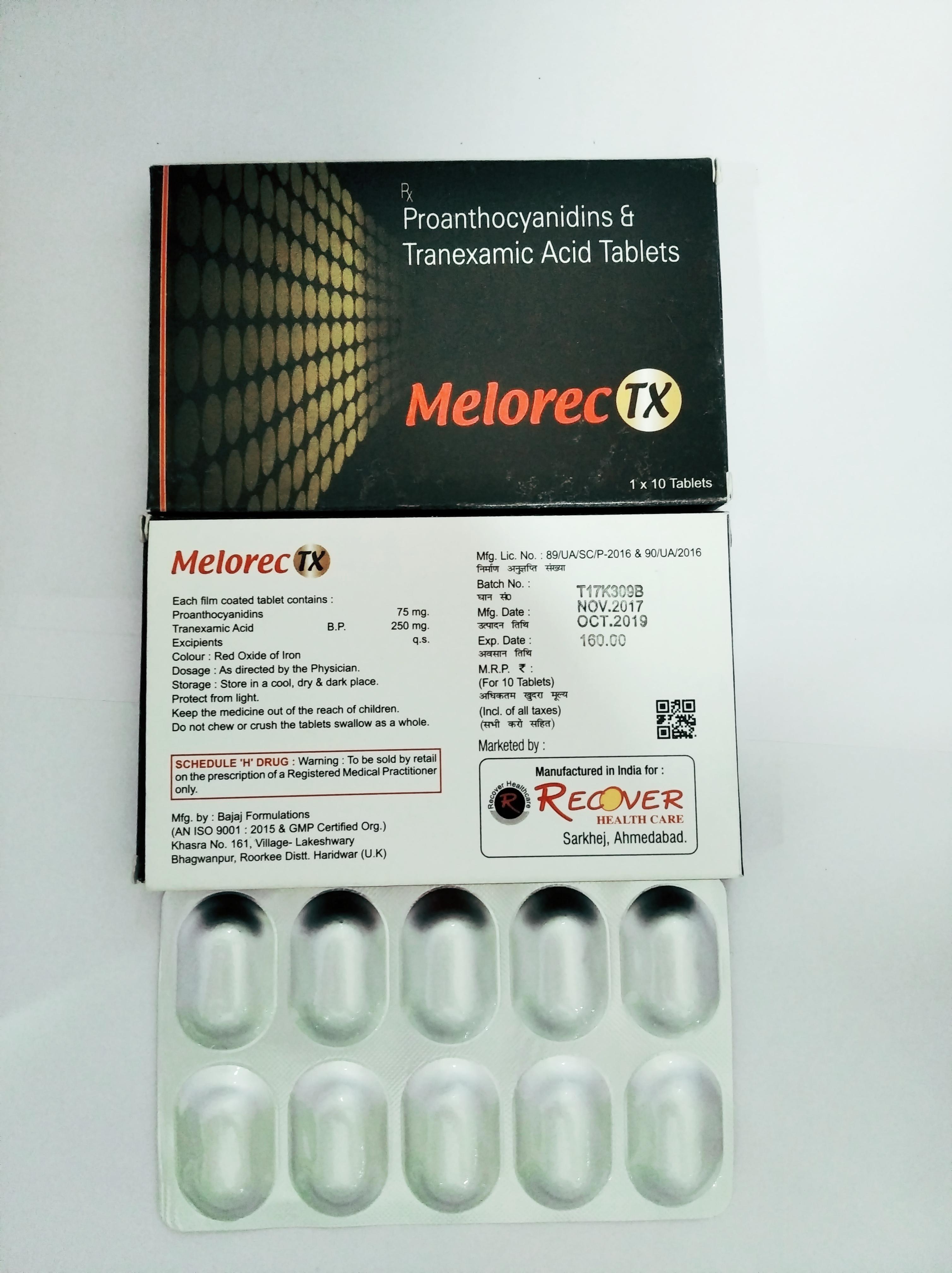 Tranexamic Acid 250 Mg Tablets