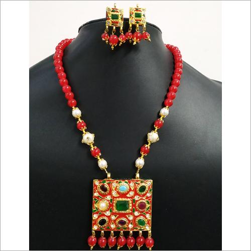 Navratna Jaipuri Necklace Set