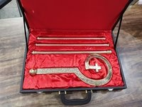 Brass Full Engraved Church Crozier With Box