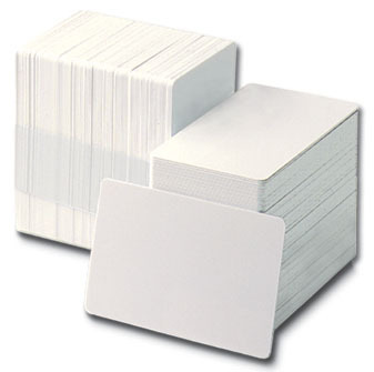 PVC White Plain Cards