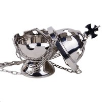 Brass Silver Censer With Boat & Chain