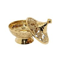 High Quality Brass Gold Censer With Boat & Chain
