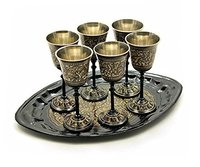 Brass Church Chalice With Paten