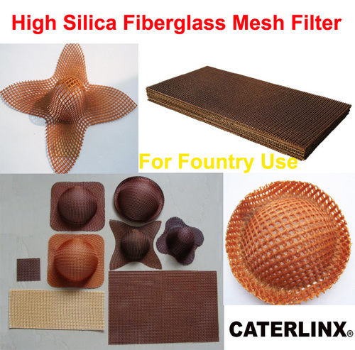 High Silica Fiberglass Mesh Filter for fountry use