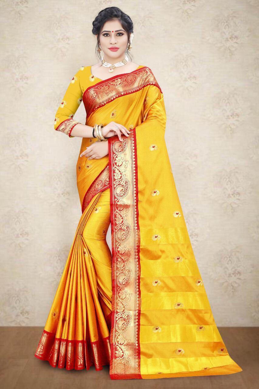 Designer Cotton Silk Saree