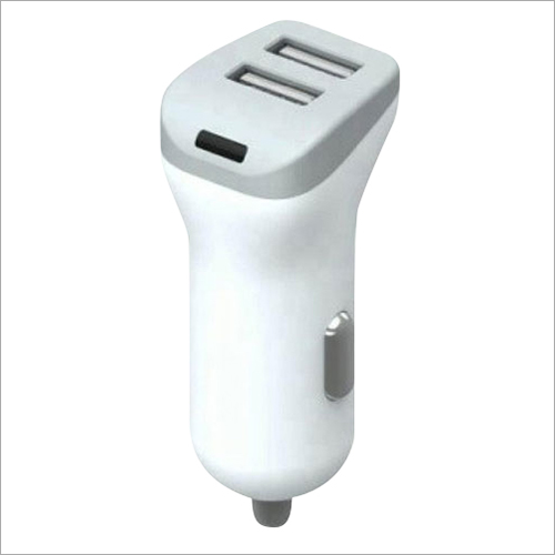 2.4 A Dual Port Car White Charger