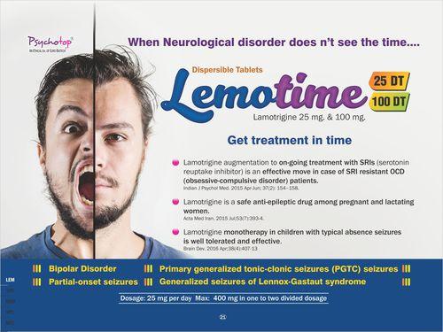 Lamotrigine 25 mg & 100 mg