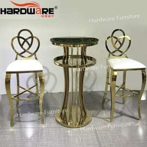 gold stainless steel wedding chair