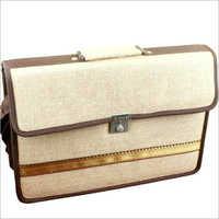 Jute Office Laptop Bag