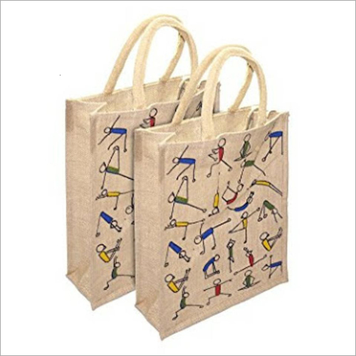 Jute Printed Lunch Bag