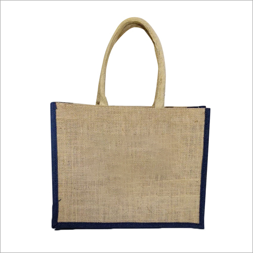 Jute Zipper Lunch Bag