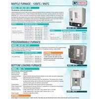 Muffle Furnace - 1200 & 950 Degrees