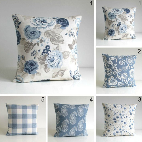 Floral Print Soft Cushion
