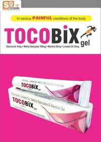 Etoricoxib 10mg + Methyl Salicylate 100mg + Menthol 50mg + Linseed Oil 30mg per gm.