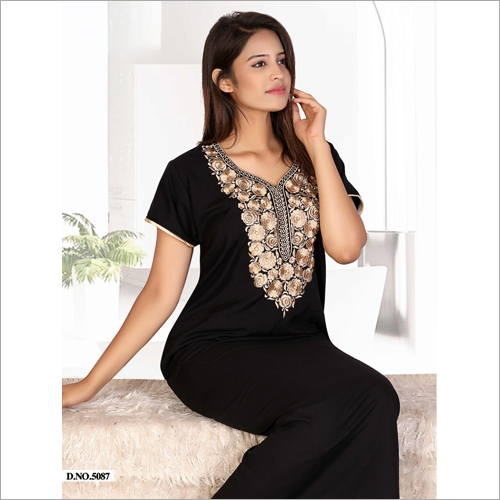 Ladies Black Nighty