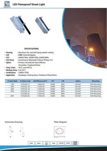 LED Flameproof Street Light 15W TO 60W