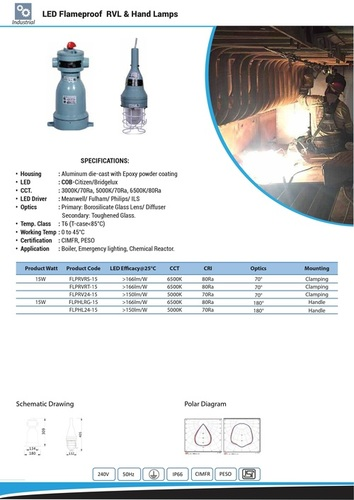 LED Flameproof RVL & Hand Lamps 15W