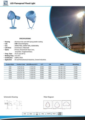 LED Flameproof Flood Light 45 TO 150 W