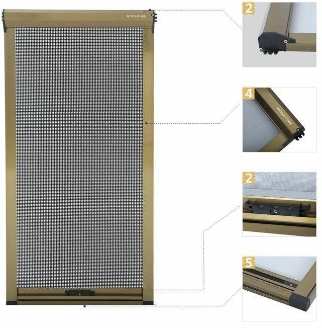 Top Rolling Fly Insect Protection Mesh