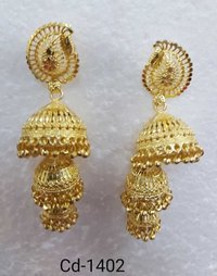 Precious Gold Plated Earring